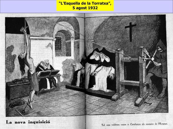"""""""L'Esquella de la Torratxa"""", 5 agost 1932"""