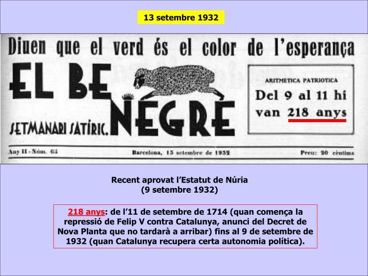13 setembre 1932
