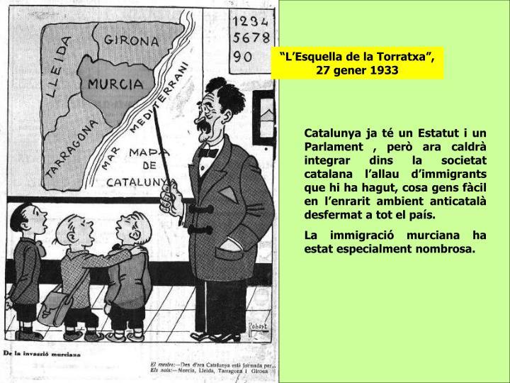 """""""L'Esquella de la Torratxa"""", 27 gener 1933"""