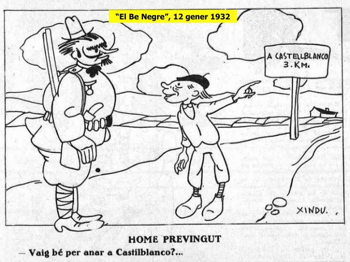 """El Be Negre"", 12 gener 1932"
