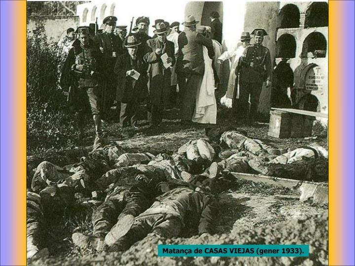 Matança de CASAS VIEJAS (gener 1933).