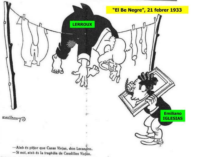 """""""El Be Negre"""", 21 febrer 1933"""
