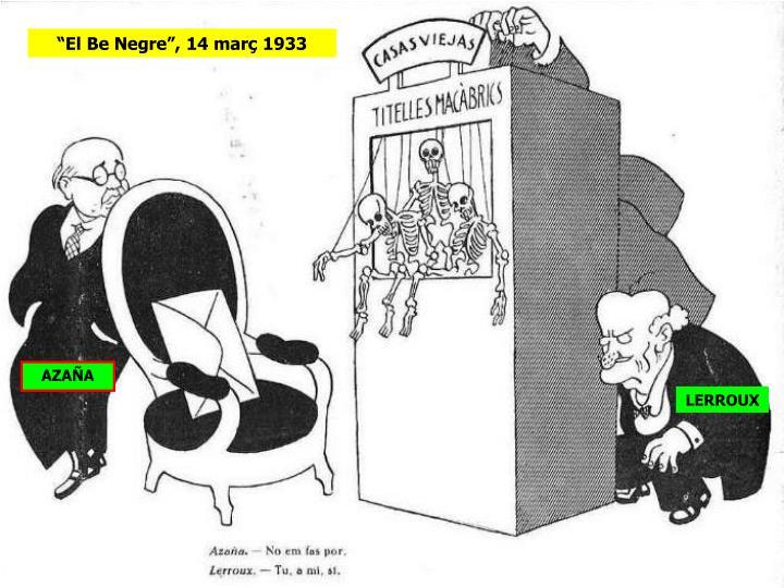 """""""El Be Negre"""", 14 març 1933"""