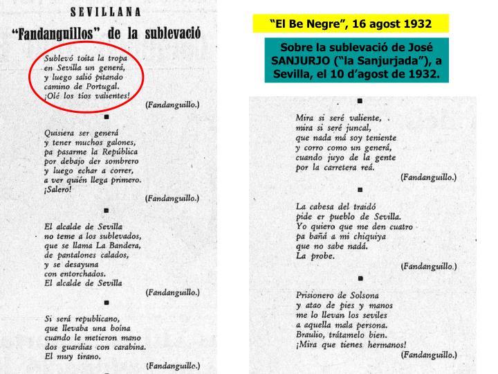 """""""El Be Negre"""", 16 agost 1932"""