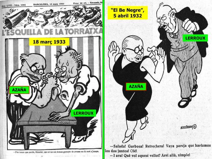 """""""El Be Negre"""", 5 abril 1932"""