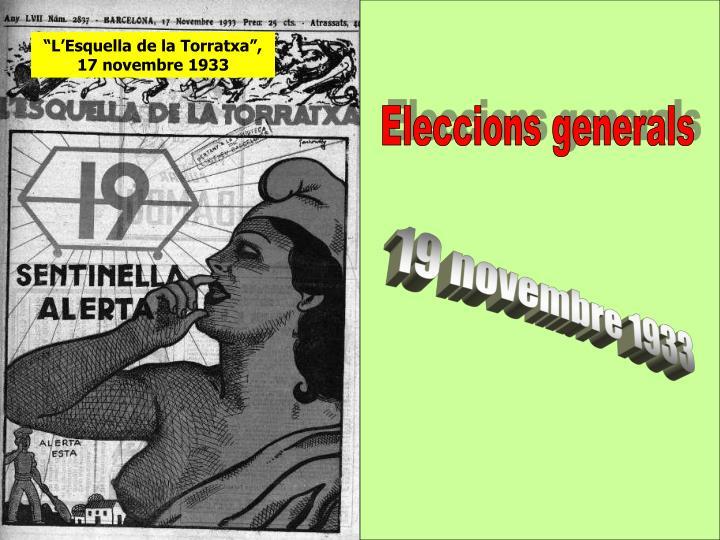 """""""L'Esquella de la Torratxa"""", 17 novembre 1933"""