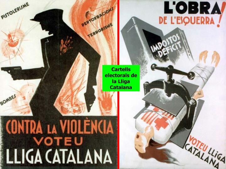 Cartells electorals de la Lliga Catalana