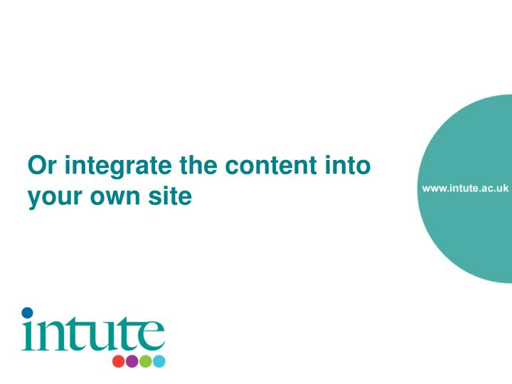 Or integrate the content into