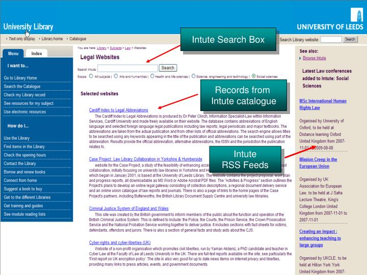 Intute Search Box