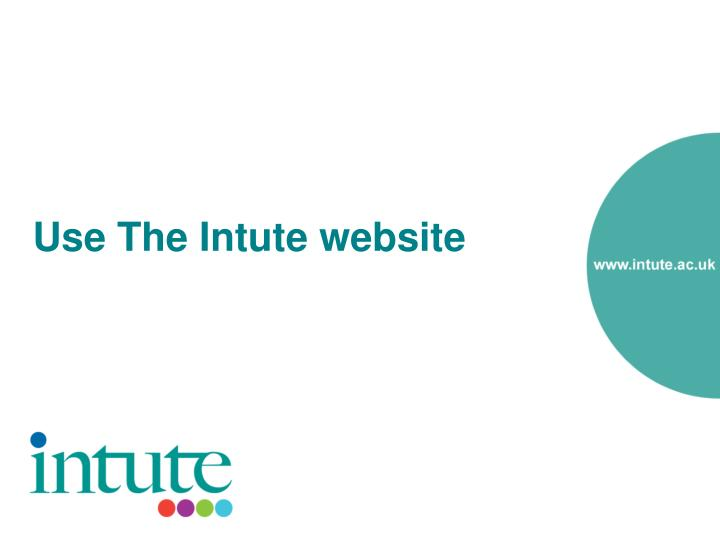 Use The Intute website