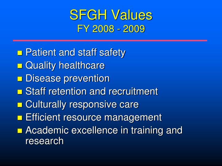 SFGH Values