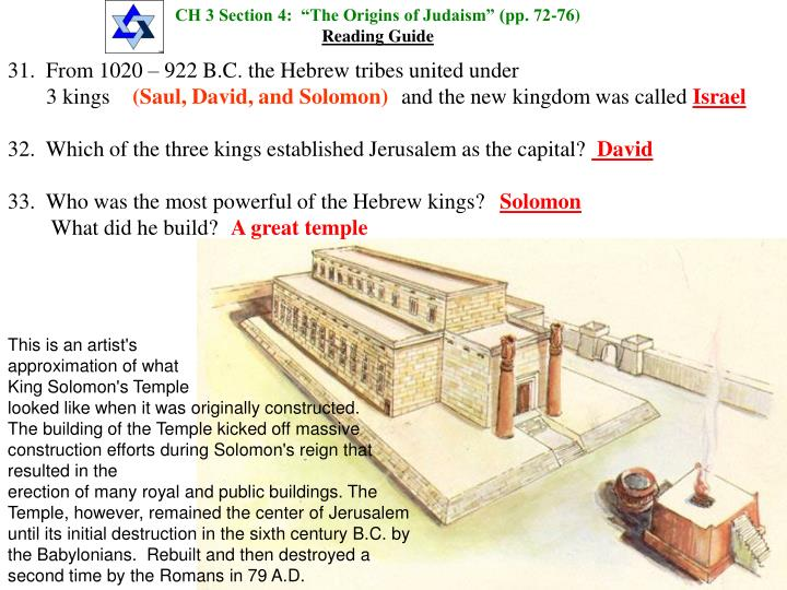 "CH 3 Section 4:  ""The Origins of Judaism"" (pp. 72-76)"