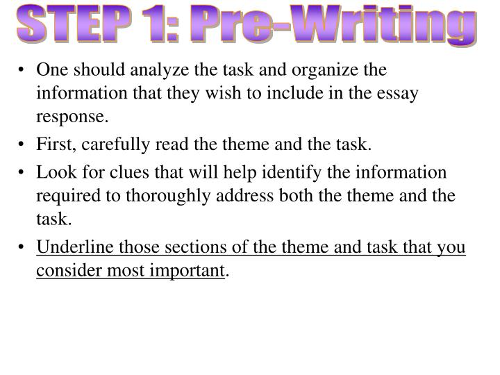 STEP 1: Pre-Writing