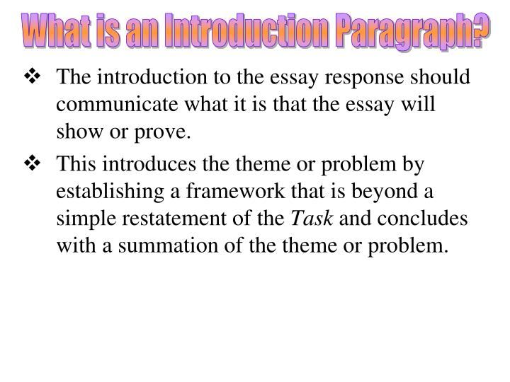 What is an Introduction Paragraph?