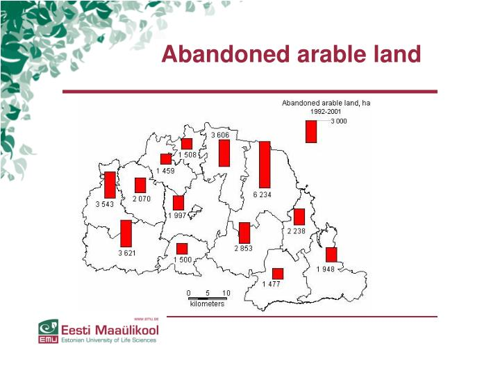 Abandoned arable land
