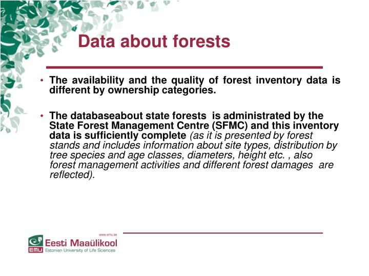 Data about forests