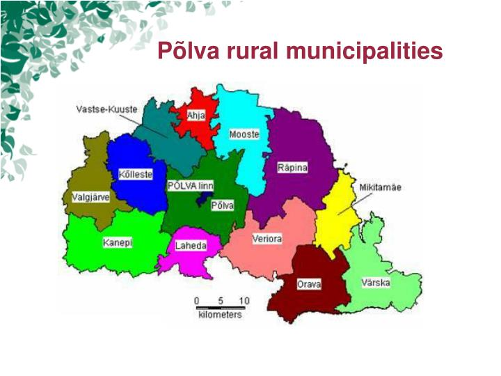 Põlva rural municipalities