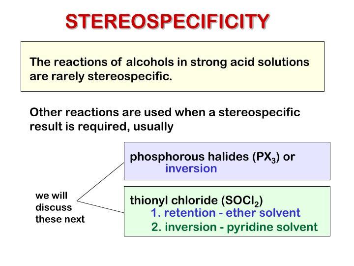 STEREOSPECIFICITY
