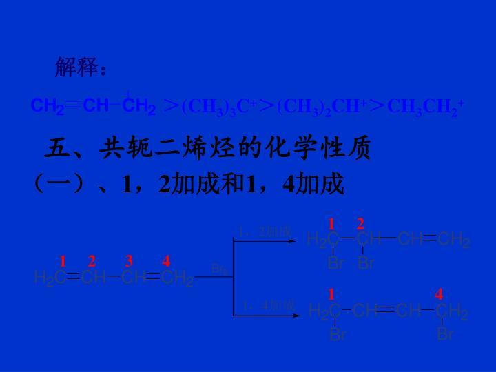 五、共轭二烯烃的化学性质