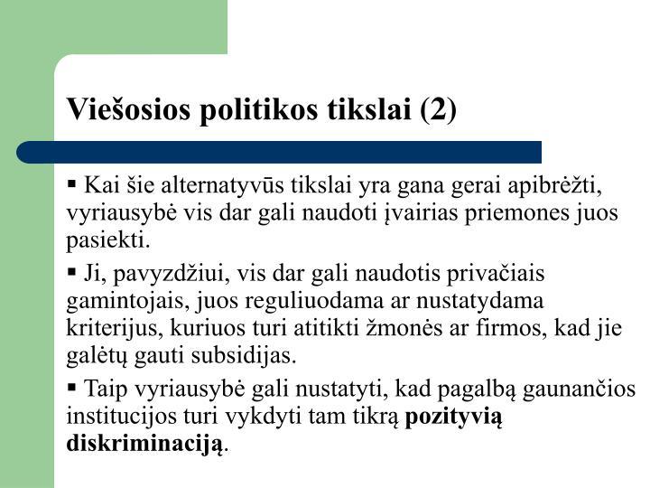Viešosios politikos tikslai