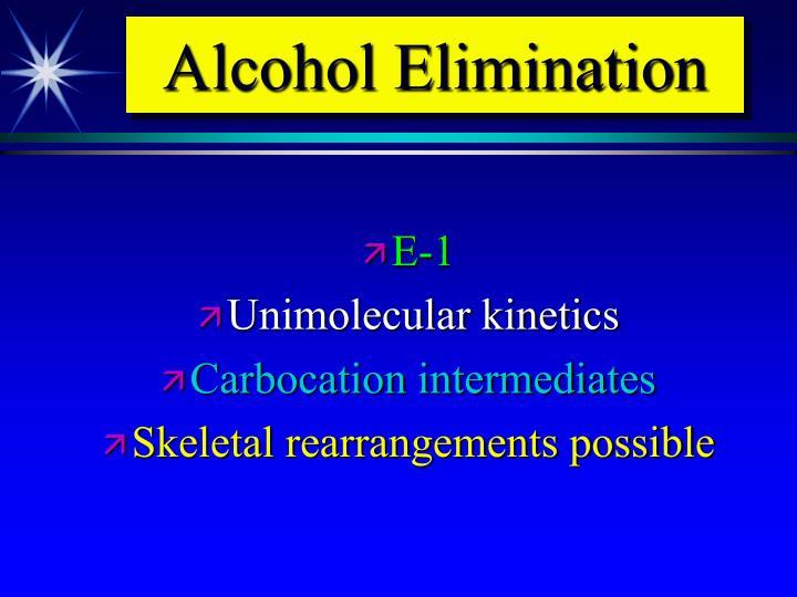 Alcohol Elimination