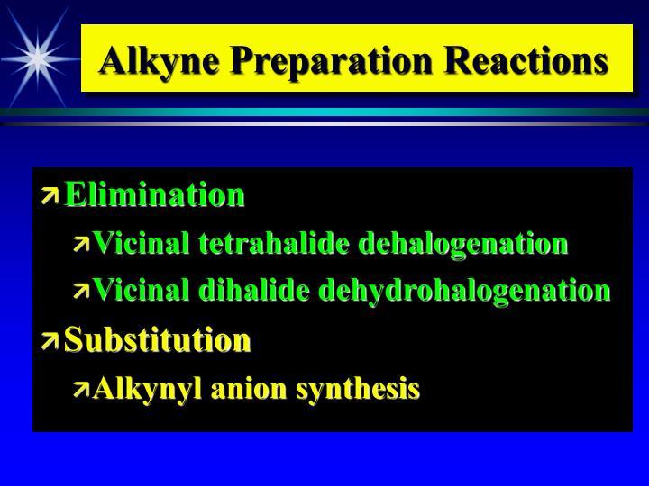 Alkyne Preparation Reactions