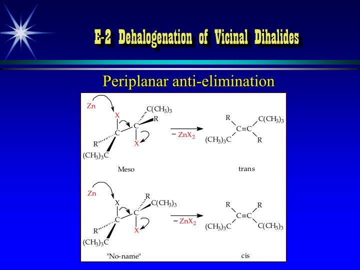 E-2 Dehalogenation of Vicinal Dihalides