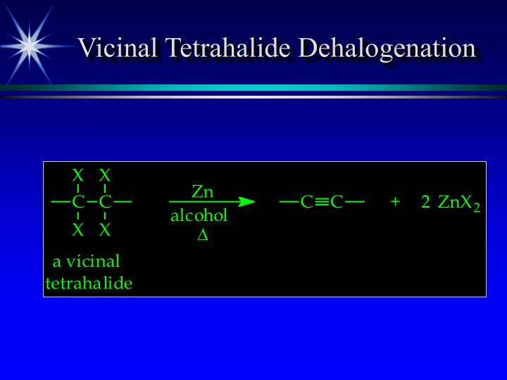 Vicinal Tetrahalide Dehalogenation