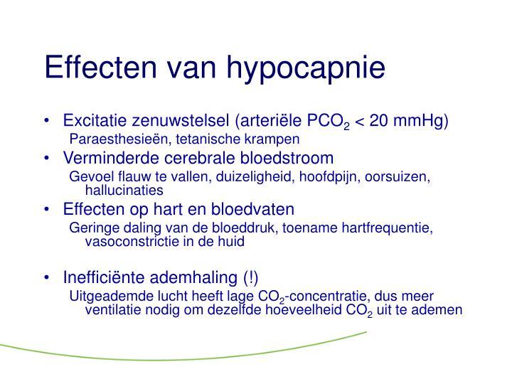 Effecten van hypocapnie