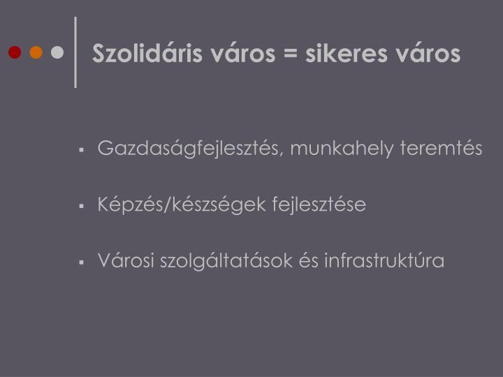 Szolidáris város = sikeres város