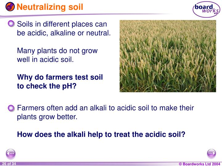 Neutralizing soil
