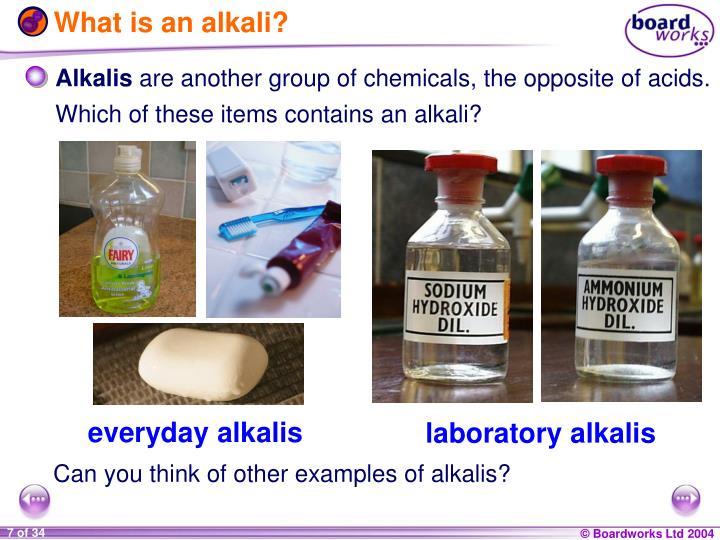 What is an alkali?