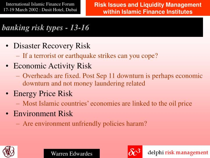 banking risk types - 1