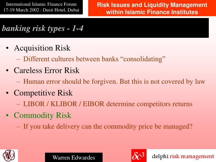 banking risk types - 1-