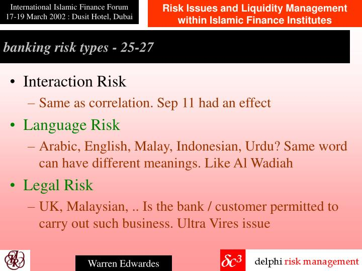 banking risk types - 2