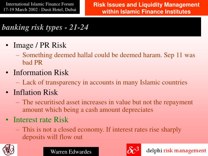 banking risk types - 21-2
