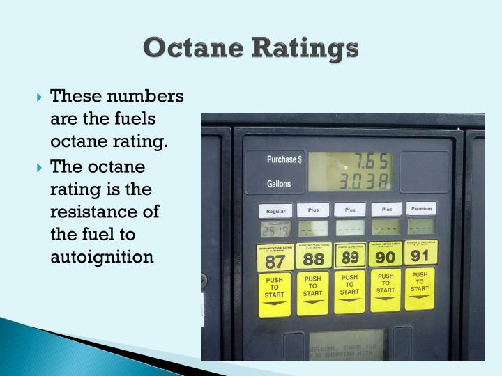Octane Ratings