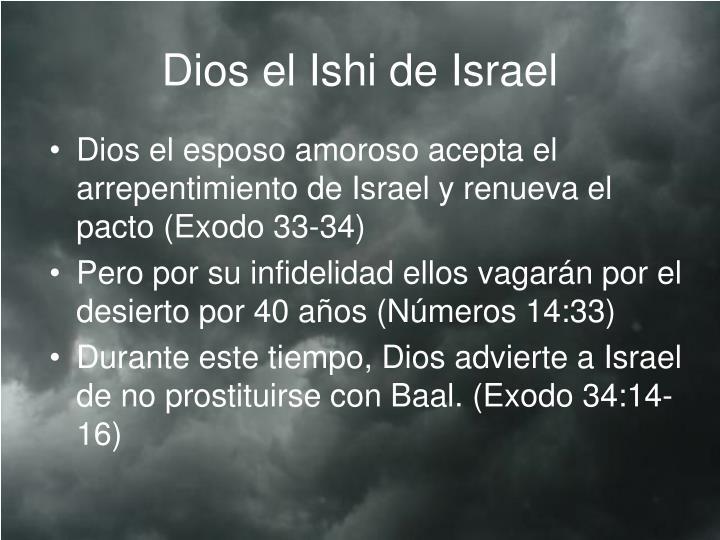 Dios el Ishi de Israel