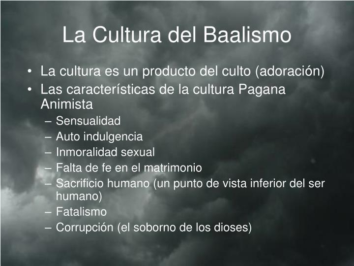 La Cultura del Baalismo