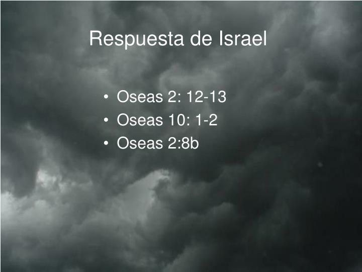 Respuesta de Israel