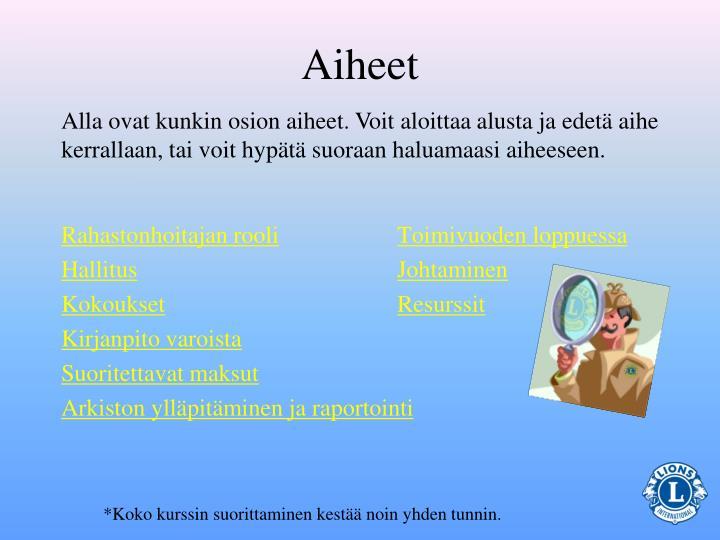 Aiheet