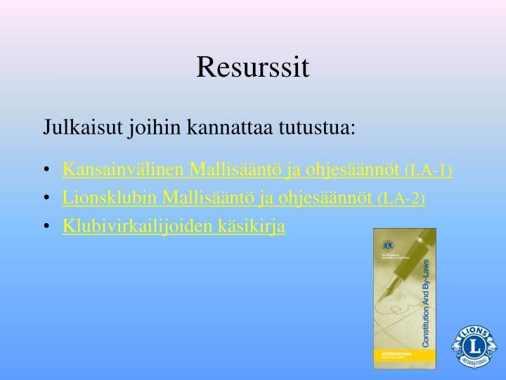 Resurssit