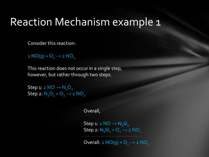 Reaction Mechanism example 1