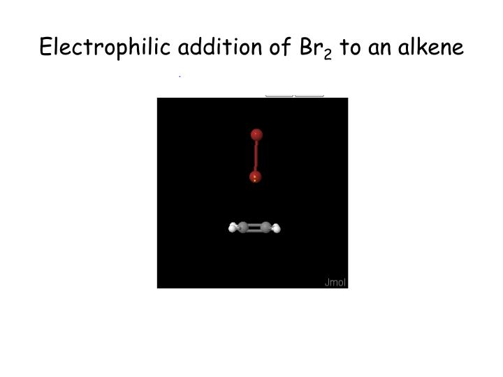 Electrophilic addition of Br