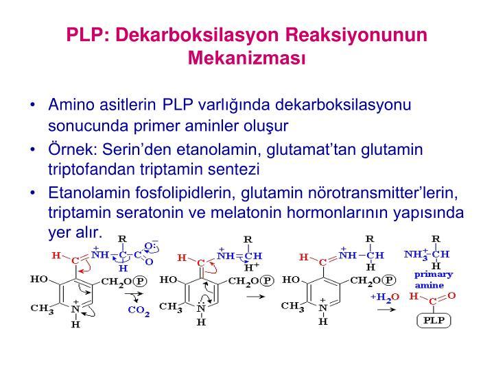 PLP: Dekarboksilasyon Reaksiyonunun Mekanizması
