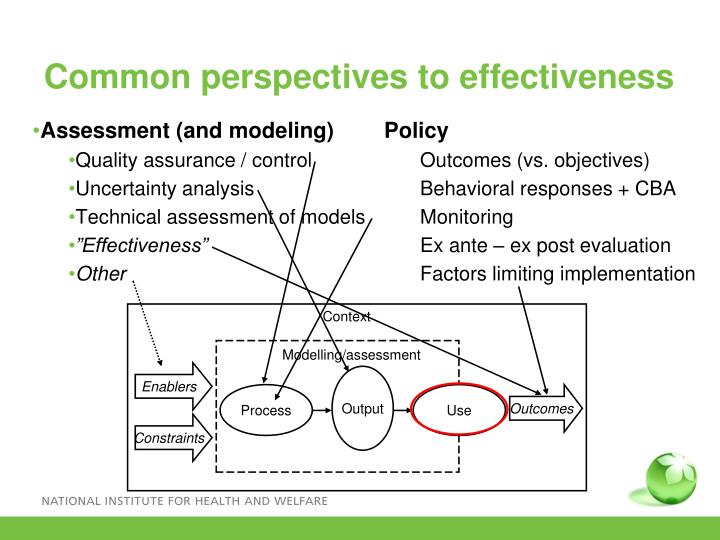 Common perspectives to effectiveness