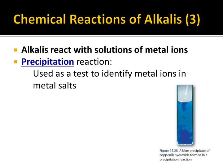Chemical Reactions of Alkalis (3)