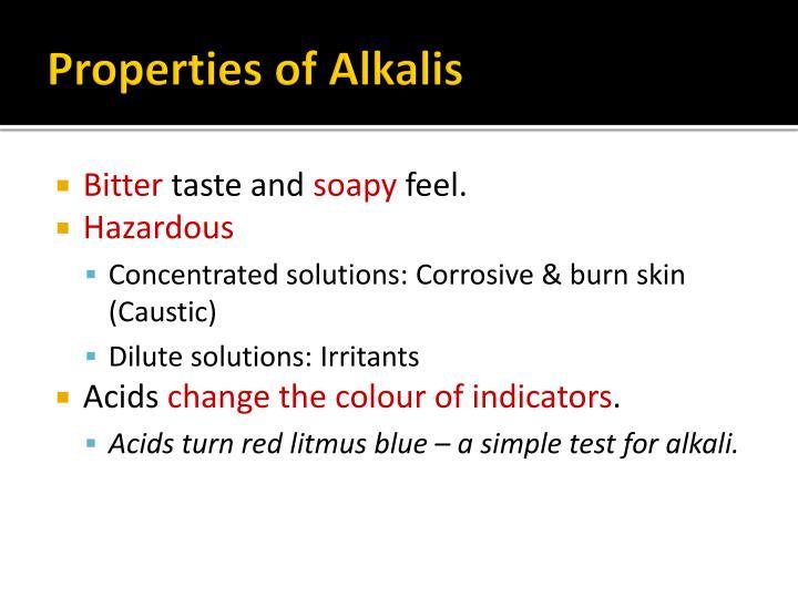 Properties of Alkalis