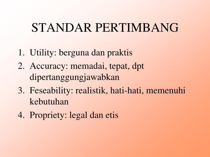 STANDAR PERTIMBANG