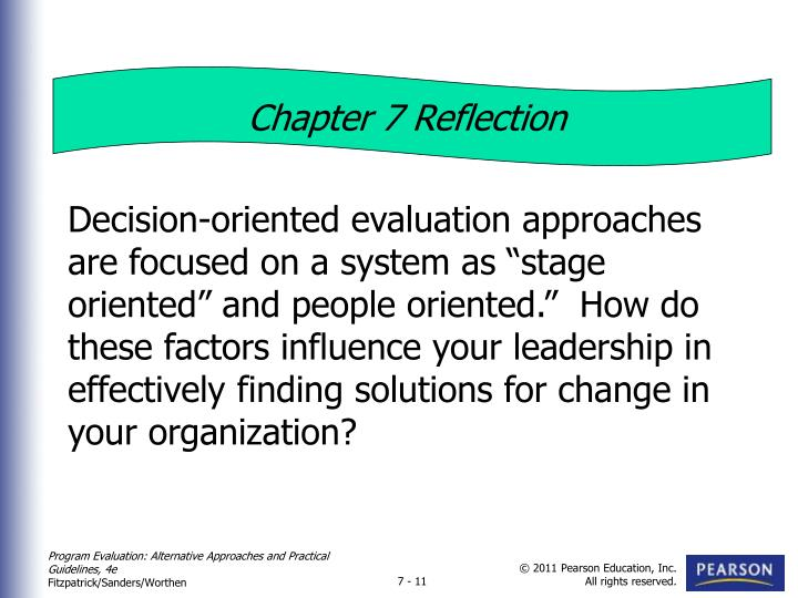 Chapter 7 Reflection
